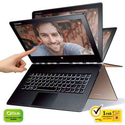 "Ntb Lenovo IdeaPad Yoga 3 Pro 13 M-5Y51, 8GB, 128GB, 13.3"""", Intel HD, BT, CAM, Win 8.1 / Win10  - zlatý"