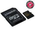 Paměťová karta Kingston MicroSDHC 32GB UHS-I U1 (90R/45W) + adapter