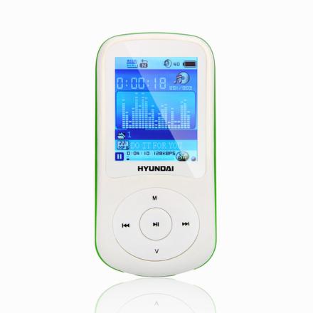 MP3 přehrávač Hyundai MPC 401 FM, 2GB, bílý/zelený