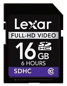 LEXAR SDHC 16GB Class 10 Full-HD Video