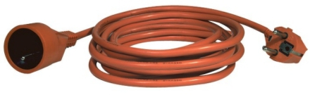 Kabel prodlužovací EMOS 1x zásuvka, 20m - oranžový