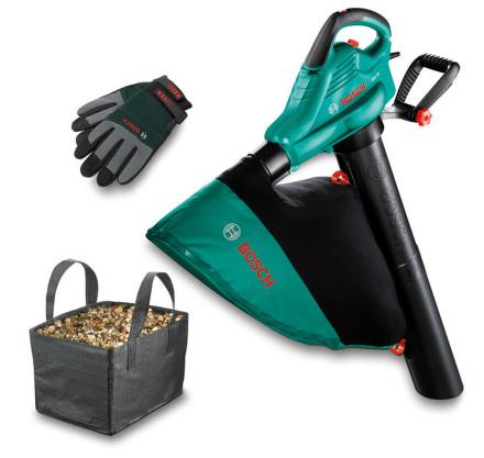 Vysavač listí Bosch ALS 25 + rukavice + taška