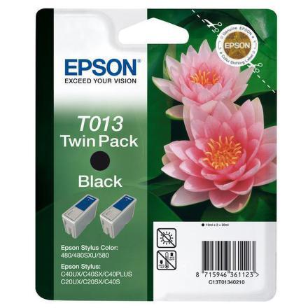 Inkoustová náplň Epson T013, 2x 10ml originální - černá