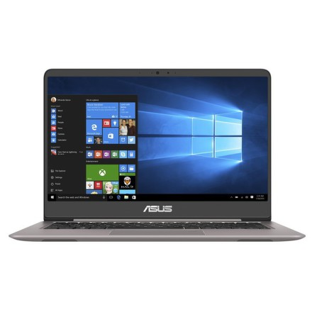 "Ntb Asus UX410UA-GV017T i3-7100U, 4GB, 128GB, 14"""", Full HD, bez mechaniky, Intel HD 620, BT, CAM, W10 - šedý"