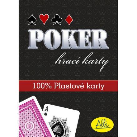 Poker ALBI - plastové karty červené
