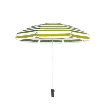 Slunečník Happy Green 50XT2205YS plážový 230 cm, bílo-žlutý