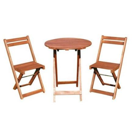 Balkonový nábytek Happy Green Acacia 37BSRDTXFCH dřevěný 3dílný