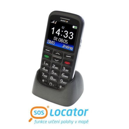 Mobilní telefon Aligator A680 + stojánek - černý