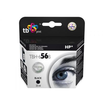 Inkoustová náplň TB HP C6656AE (No.56) Bk kompatibilní - černá