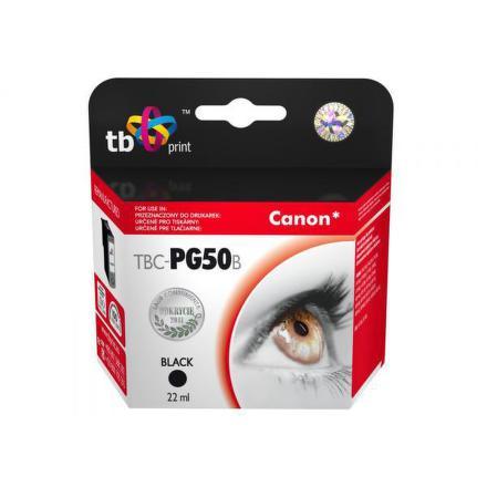 Inkoustová náplň TB Canon PG-50B kompatibilní - černá