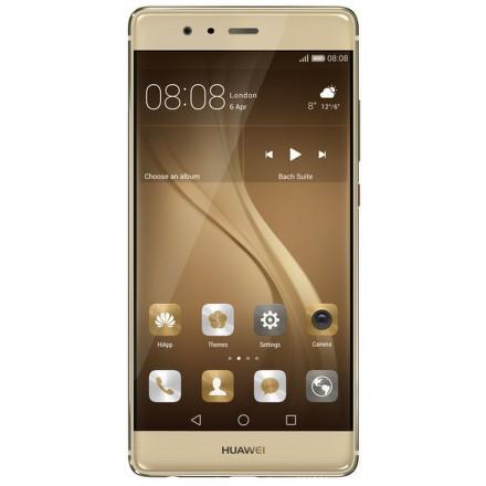Huawei P9 32 GB Dual SIM Gold + dárek Hama MicroSDHC 16GB + adaptér (114992), Aligator selfie držák + bluetooth zelený, VR-X2 brýle 3D univerzální zdarma