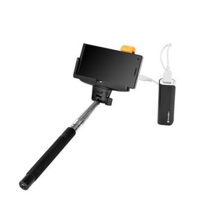 Selfie SET GoGEN 2in1, selfie tyč, power bank