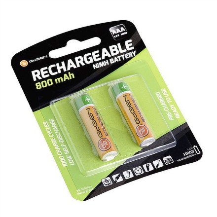 Baterie nabíjecí GoGEN AAA, HR03, 800mAh, Ni-MH, blistr 2ks