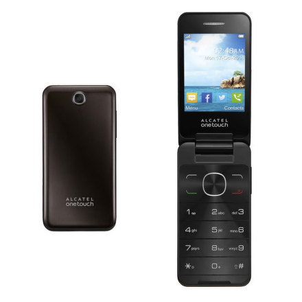 Mobilní telefon ALCATEL ONETOUCH 2012D Dual Sim - hnědý