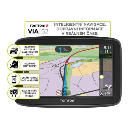 Navigace TomTom VIA 52 Europe LIFETIME mapy