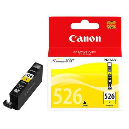 Inkoustová náplň Canon CLI-526 Y, 9ml originální - žlutá