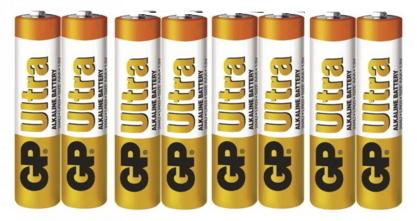 Baterie alkalická GP Ultra AAA, LR03, 8ks
