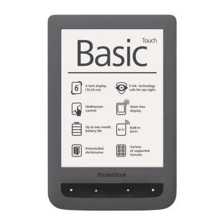 Čtečka e-knih Pocket Book 624 Basic Touch - šedá