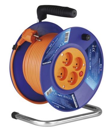 Kabel prodlužovací na bubnu EMOS P19425 25m, 4 zásuvky