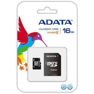 ADATA MicroSDHC 16GB class4 + adaptér