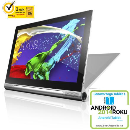"Dotykový tablet Lenovo Yoga 2 Pro 13 13.3"""", 32 GB, WF, BT, GPS, Android 4.4/ Android 5.0 - stříbrný"
