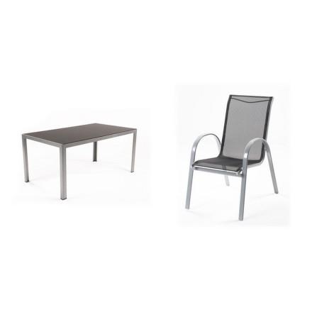Zahradní nábytek Riwall Vergio 4+ (1x stůl Frankie + 4x židle Vera)