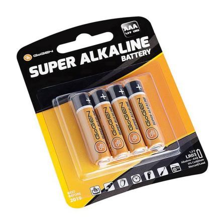 Baterie alkalická GoGEN SUPER ALKALINE AAA, LR03, blistr 4ks