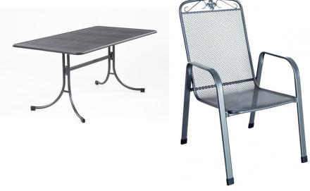 Zahradní nábytek Riwall Bani 4+ (4x židle Savoy, 1x stůl Universal)