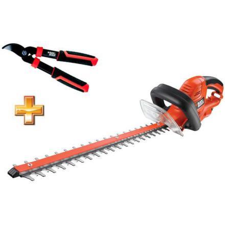 Nůžky na živý plot Black&Decker GT5055, elektrické + nůžky na větve