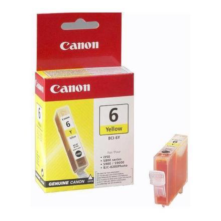 Inkoustová náplň Canon BCI-6Y, 210 stran originální - žlutá