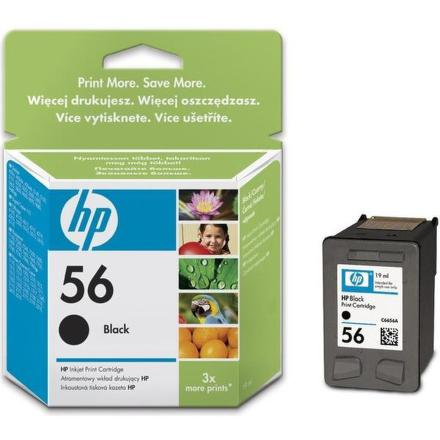 Inkoustová náplň HP No. 56, 19ml, 520 stran originální - černá