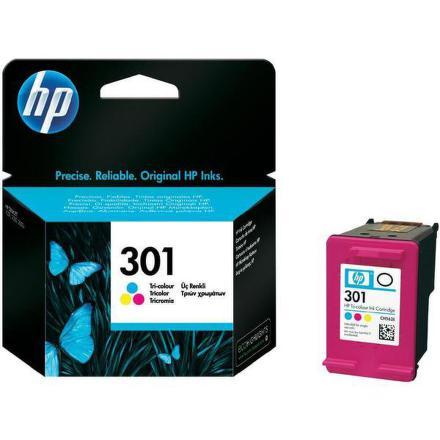 Inkoustová náplň HP No. 301, 165 stran originální - červená/modrá/žlutá