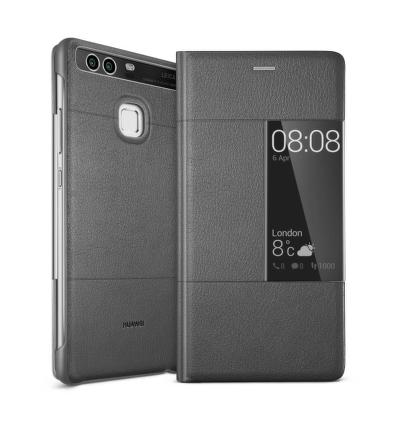 Pouzdro na mobil flipové Huawei Smart Cover pro P9 - šedé