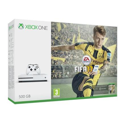 Herní konzole Microsoft Xbox One S 500 GB + FIFA 2017 - bílá