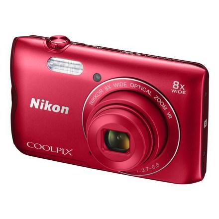 Fotoaparát Nikon Coolpix A300, červený