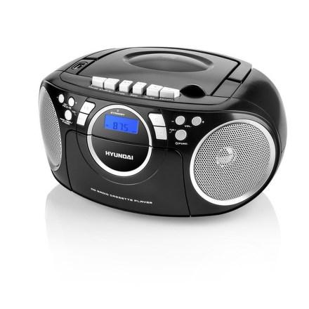 Hyundai TRC 788 AU3BS s CD/MP3/USB, černá/stříbrná
