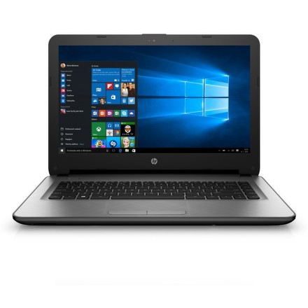"Ntb HP 14-ac104nc Celeron N3050, 2GB, 32GB, 14"""", HD, bez mechaniky, Intel HD, BT, CAM, W10 - stříbrný"