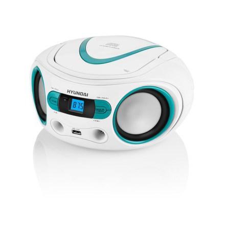 Hyundai TRC 533 AU3WBL s CD/MP3/USB, bílá/modrá