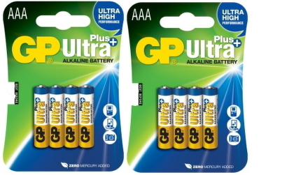 Baterie alkalická GP Ultra Plus AAA, LR03, blistr 8ks