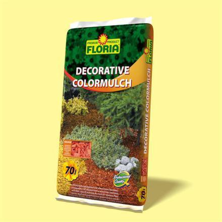 Kůra Agro FLORIA decor. ColorMulch oranžová, 70 l
