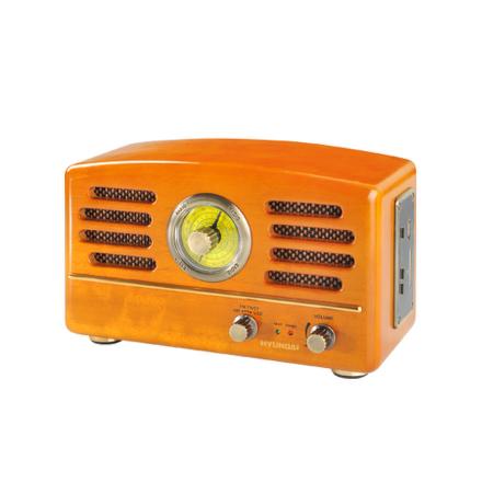 Radiopřijímač Hyundai RA 302 RETRO, USB/SD, dub