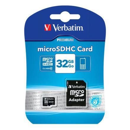 Paměťová karta Verbatim micro SDHC 32GB Class 10 + adapter