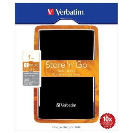 """HDD ext. 2,5"""""""" Verbatim Store ´n´ Go 1TB - černý"""
