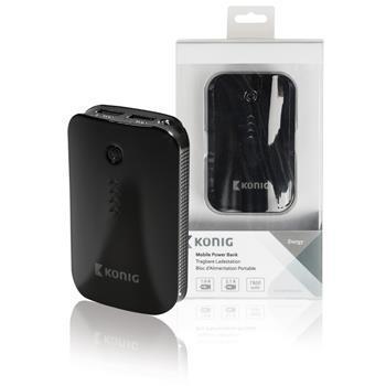 König powerbank 7800 mAh černý