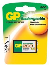 GP 20R8H,9V,200mAh (1ks - blistr)