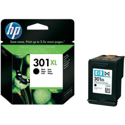 Inkoustová náplň HP No. 301XL, 480 stran originální - černá