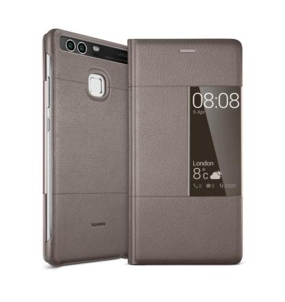 Pouzdro na mobil flipové Huawei Smart Cover pro P9 - hnědé