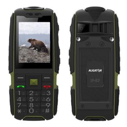 Mobilní telefon Aligator R20 eXtremo - černý/zelený