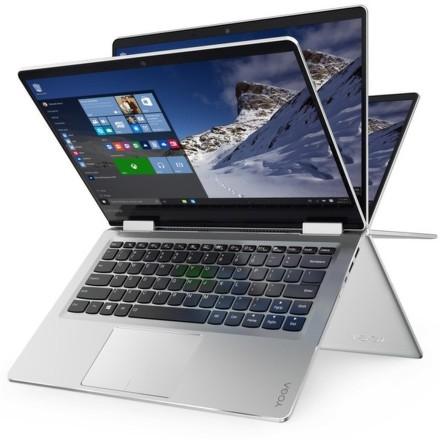 """Ntb Lenovo IdeaPad YOGA 710-11IKB m3-7Y30, 4GB, 128GB, 11.6"""""""", Full HD, bez mechaniky, Intel HD, BT, CAM, W10 - stříbrný"""