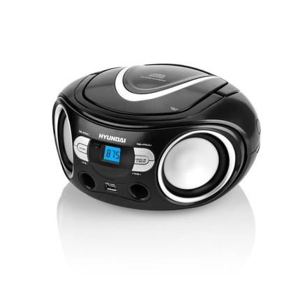 Hyundai TRC 533 AU3BS s CD/MP3/USB, černá/stříbrná
